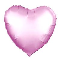 Шар (19''/48 см) Сердце, Розовый фламинго, Сатин, 1 шт.