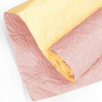 Упаковочная бумага (0,7*5 м) Эколюкс, Пыльная роза/Желтый, 1 шт.