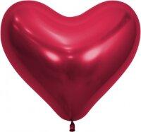 Сердце (14''/36 см) Reflex, Зеркальный блеск, Красный (915), хром, 50 шт.