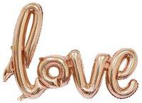"""Шар (41''/104 см) Фигура, Надпись """"Love"""", Розовое Золото, 1 шт."""