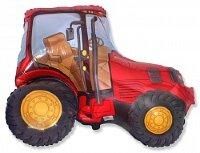 Шар (12''/30 см) Мини-фигура, Трактор, Красный, 5 шт.