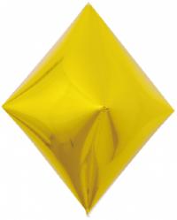 Шар 3D (21''/53 см) Ромб, Золото, 1 шт.