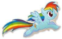 Шар (43''/109 см) Фигура, My Little Pony, Лошадка Радуга, 1 шт.