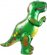 Шар (25''/64 см) Ходячая Фигура, Динозавр Аллозавр, Зеленый, 1 шт. в упак.