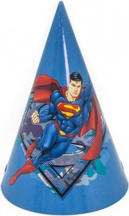 Колпаки Супермен, Синий, 6 шт.