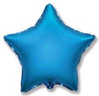 Шар (18''/46 см) Звезда, Синий, 1 шт.