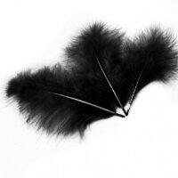 Перья, Черный, 10*15 см, 30 шт.