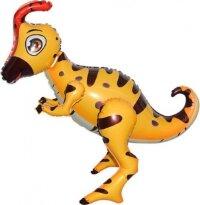 Шар (26''/66 см) Ходячая Фигура, Динозавр Гадрозавр, Светло-коричневый, 1 шт. в упак.