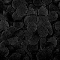 Конфетти тишью, Круги, Черный, 2,5 см, 50 гр