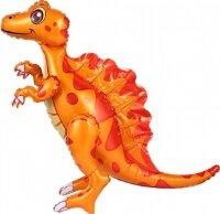 Шар (30''/76 см) Ходячая Фигура, Динозавр Спинозавр, Оранжевый, 1 шт. в упак.