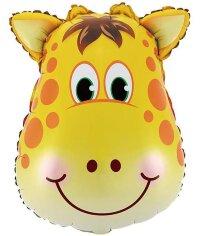 Шар (25''/64 см) Фигура, Голова, Милый Жираф, 1 шт.