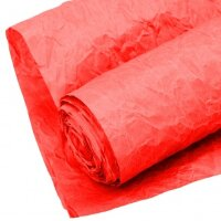 Упаковочная жатая бумага (0,7*5 м) Эколюкс, Красный, 1 шт.