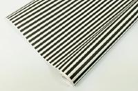 Упаковочная бумага, Крафт (0,5*10 м) Полосы, Черный, 1 шт.