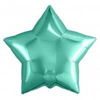 Шар (9''/23 см) Мини-звезда, Бискайский зеленый, 5 шт.