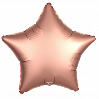 Шар (21''/53 см) Звезда, Розовое Золото, Сатин, 1 шт.