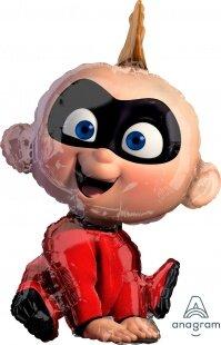 Шар (32''/81 см) Ходячая Фигура, Суперсемейка, Малыш Джек-Джек, Красный, 1 шт. в упак.