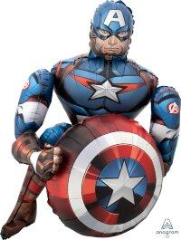 Шар (39''/99 см) Ходячая Фигура, Мстители, Капитан Америка, 1 шт. в упак.