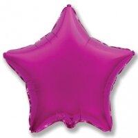 Шар (18''/46 см) Звезда, Пурпурный, 1 шт.