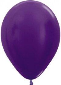 Шар (12''/30 см) Фиолетовый (551), металлик, 50 шт.