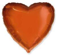 Шар (18''/46 см) Сердце, Оранжевый, 1 шт.