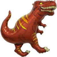 Шар (36''/91 см) Фигура, Динозавр Тираннозавр, Коричневый, 1 шт.