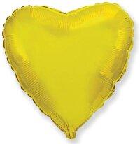 Шар (18''/46 см) Сердце, Золото, 1 шт.