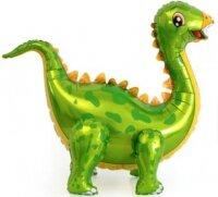 Шар (39''/99 см) Ходячая Фигура, Динозавр Стегозавр, Зеленый, 1 шт. в упак.