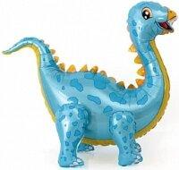 Шар (39''/99 см) Ходячая Фигура, Динозавр Стегозавр, Голубой, 1 шт. в упак.