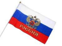 Флаг Россия (с гербом) 15х20см, 1шт