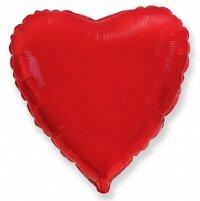 Шар (9''/23 см) Мини-сердце, Красный, 5 шт.