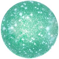 Шар (18''/46 см) Круг, Искры, Зеленый, 1 шт.