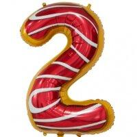 Шар (34''/86 см) Цифра, 2 Пончик, 1 шт. в упак.