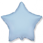 Шар (9''/23 см) Мини-звезда, Голубой