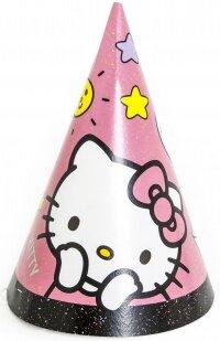 Колпаки Hello Kitty, С Днем Рождения!, Розовый, 6 шт.