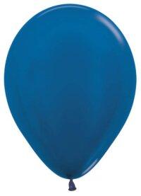 Шар (12''/30 см) Синий (540), металлик, 100 шт.