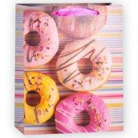 Пакет подарочный, Пончики, с блестками, 23*18*10 см, 1 шт.