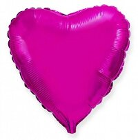 Шар (9''/23 см) Мини-сердце, Пурпурный,5 шт.