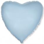 Шар (9''/23 см) Мини-сердце, Голубой, 5 шт
