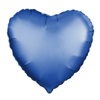 Шар (18''/46 см) Сердце, Лазурь, Сатин, 1 шт.