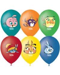 "M 12""/30см Пастель+Декоратор (шелк) 1 ст. 4 цв. рис Angry Birds Stella 50шт шар латекс"