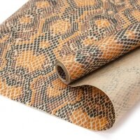 Упаковочная бумага, Крафт 40гр (0,6*10 м) Анималистика, Пятнистый окрас, Змея, 1 шт.