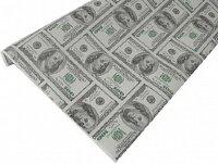 Упаковочная бумага, Крафт 50гр (0,7*10 м) Доллары, 1 шт.