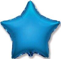 Шар (9''/23 см) Мини-звезда, Синий, 5 шт.
