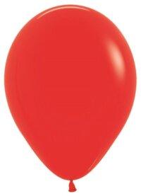 Шар (5''/13 см) Красный (015), пастель, 100 шт.