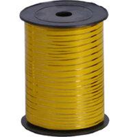 Лента (0,5 см*250 м) Золотая полоска, Желтый, 1 шт.