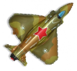 Шар (13''/33 см) Мини-фигура, Самолет Истребитель, Военный, 5 шт.
