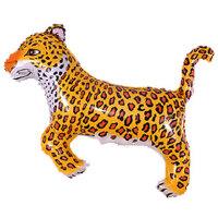 Шар (14''/36 см) Мини-фигура, Леопард, Черный, 5 шт.