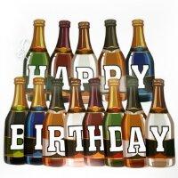 Гирлянда Напитки, Happy Birthday, 200 см, 1 шт.