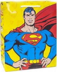 Пакет подарочный, Супермен, Желтый, 23*18*10 см, 1 шт.