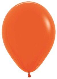 Шар (10''/25 см) Оранжевый (061), пастель, 100 шт.